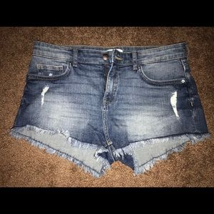 H&M Distressed Denim Shorts